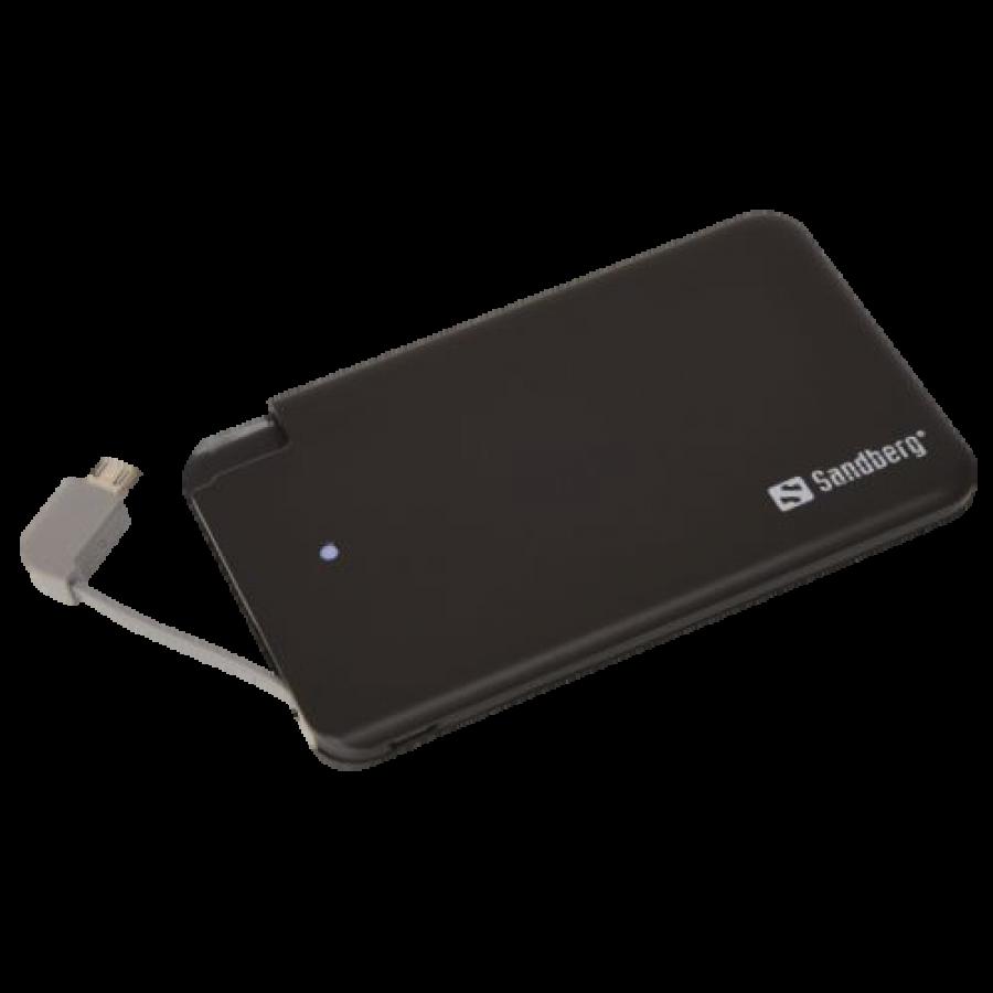 Sandberg (480-14) 2500mAh Excellence Power Bank, MicroUSB Smartphones, 5 Year Warranty