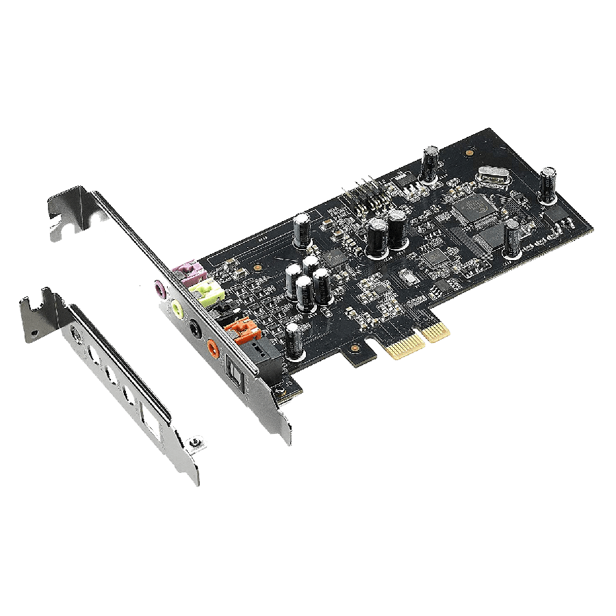 Asus Xonar SE 5.1 Gaming Soundcard, PCIe, Hi-Res Audio, 300ohm, 116dB SNR.