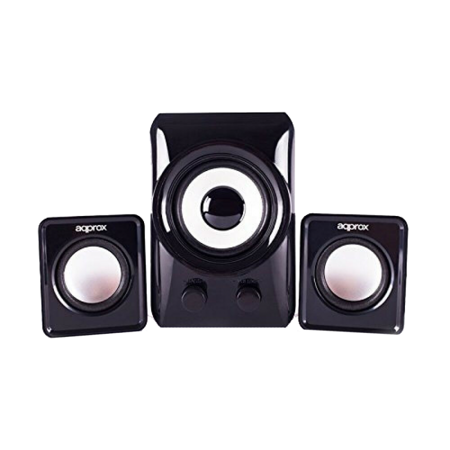 Approx (APPSP21M) 2.1 Multimedia Mini Speakers, 10W RMS, Black