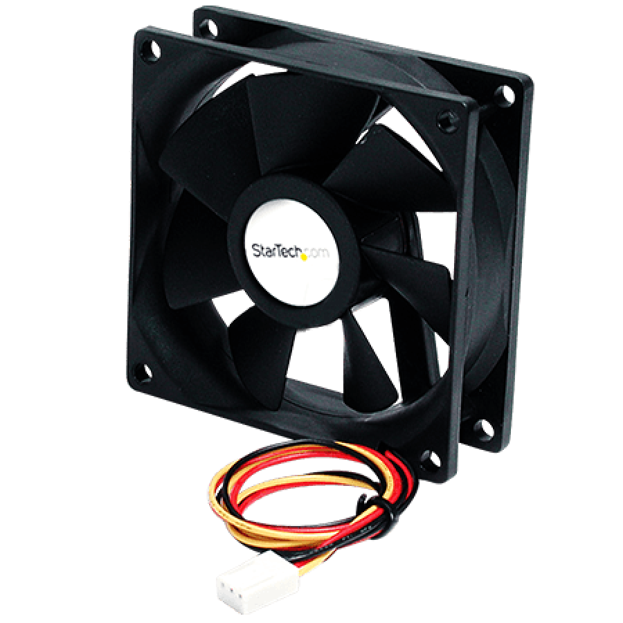 Startech 6CM High Air Flow Case Fan, Dual Ball Bearing, TX3 Connection & Built-In Tachometer - Black