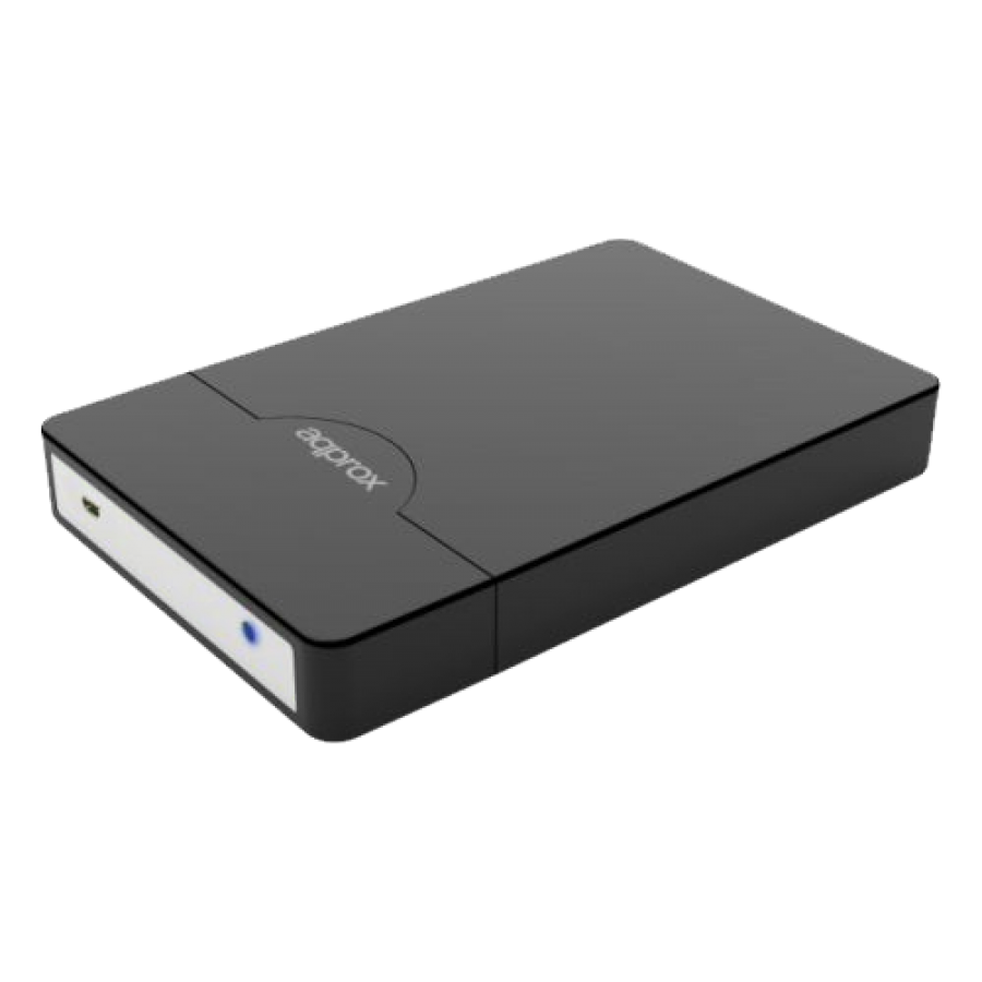 "Approx Black External 2.5"" SATA Hard Drive Caddy, USB2, USB Powered, Screwless, Carry Case"