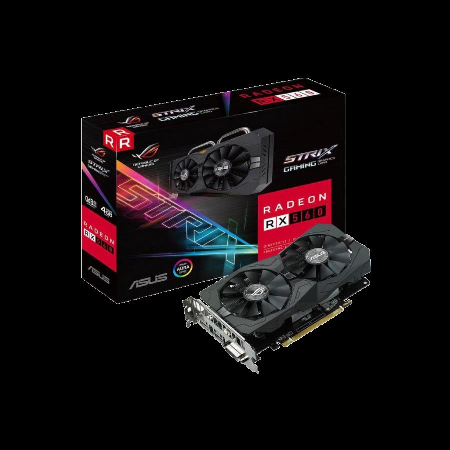 Asus Radeon ROG STRIX RX560 GAMING, 4GB DDR5, PCIe3, DVI, HDMI, RGB Lighting