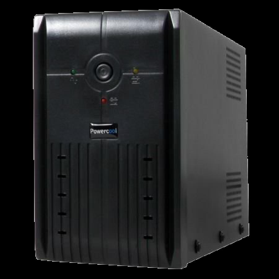 Powercool 1200VA Smart UPS, 720W, LED Display, 3 x UK Plug, 2 x RJ45, 3 x IEC, USB