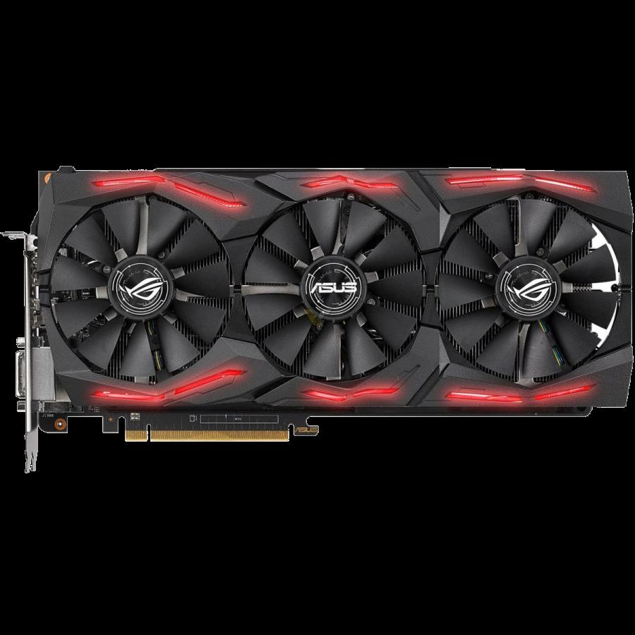 Asus Radeon ROG STRIX RX VEGA64, 8GB HBM2, DVI, 2 HDMI, 2 DP, 1590MHz Clock, RGB Lighting