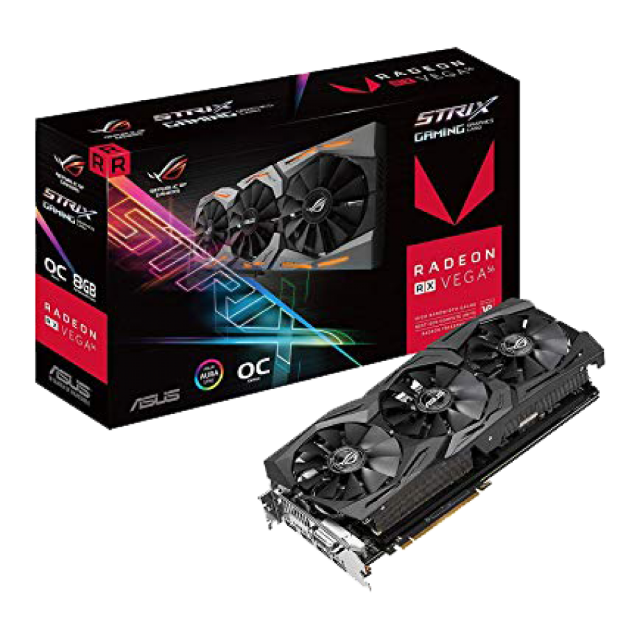 Asus Radeon ROG STRIX RX VEGA56 OC, 8GB HBM2, DVI, 2 HDMI, 2 DP, RGB Lighting