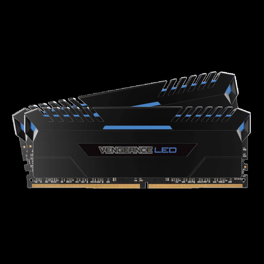 Corsair Vengeance LED 16GB Kit (2 x 8GB), DDR4, 3000MHz (PC4-24000), CL15, XMP 2.0, DIMM Memory