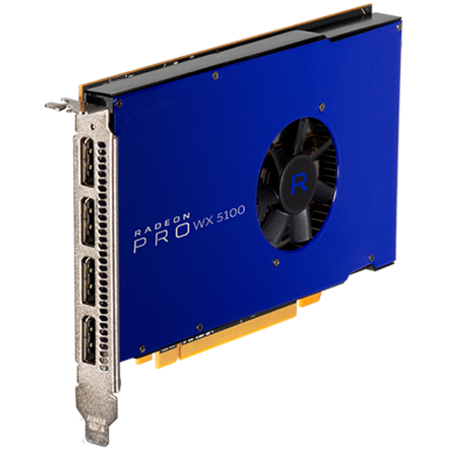 AMD Radeon Pro WX 5100 Professional Graphics Card, 8GB DDR5, 4 DP ,1086MHz