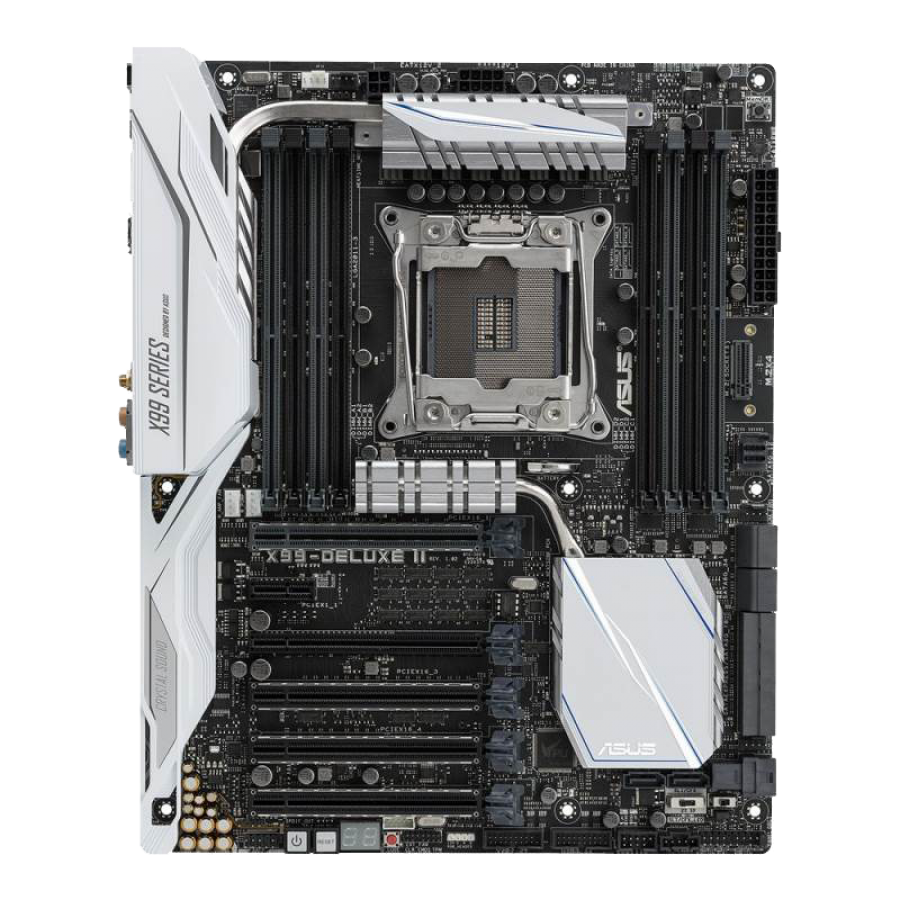 Asus X99-DELUXE II, Intel X99, 2011-3, ATX, DDR4, XFire/SLI, M.2, U.2, Wi-Fi, Btooth, RGB Lighting