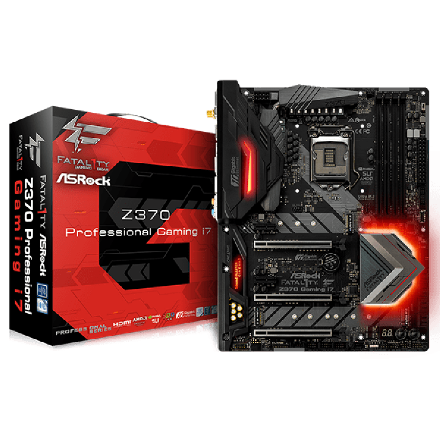 Asrock Z370 PROFESSIONAL GAMING I7, Intel Z370, 1151, ATX, DDR4, XFire/SLI, HDMI, DP, Triple LAN (1 x 10GB), RGB Lighting