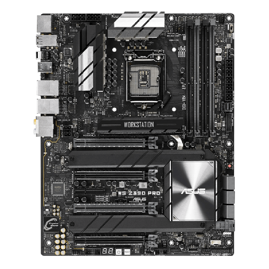 Asus WS Z390 PRO, Workstation, Intel Z390, 1151, ATX, HDMI, DP, Dual LAN, AI Overclocking, Quad-GPU Support