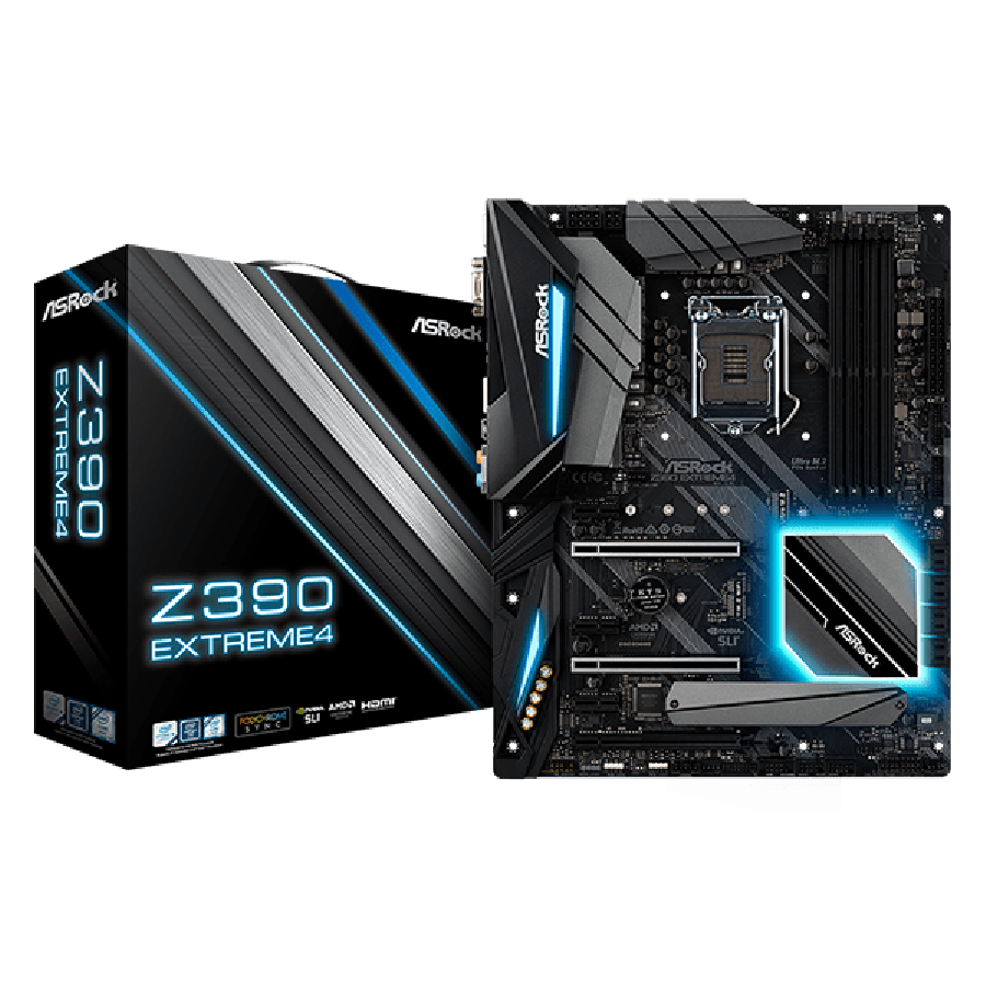 Asrock Z390 EXTREME4, Intel Z390, 1151, ATX, DDR4, XFire/SLI, VGA, HDMI, DP, M.2, RGB Lighting