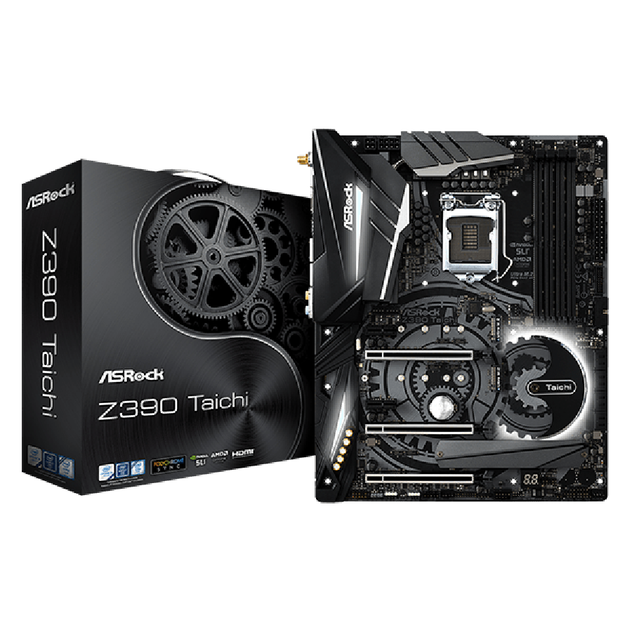 Asrock Z390 TAICHI, Intel Z390, 1151, ATX, DDR4, XFire/SLI, HDMI, DP, Dual LAN, Wi-Fi, RGB Lighting