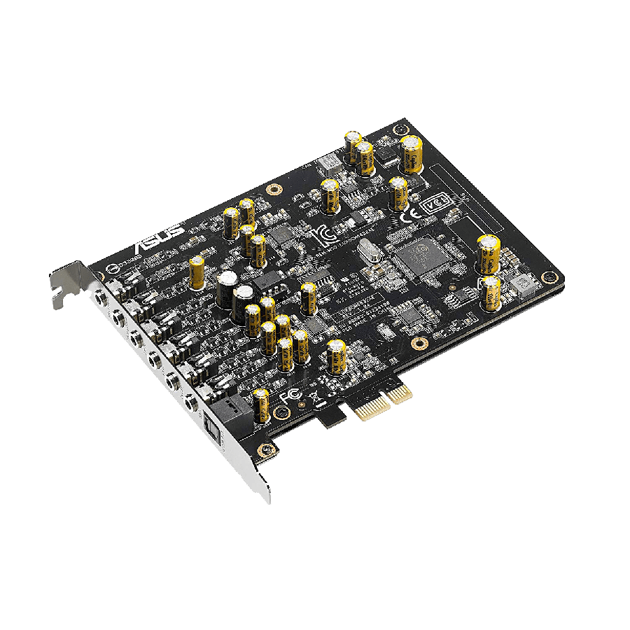 Asus Xonar AE Soundcard, PCIe,  7.1, Hi-Res Audio, 150ohm Headphone Amp, HQ DAC, EMI Back Plate