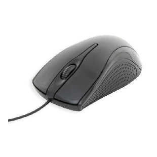 Spire Wired Optical Mouse, USB, 800 DPI, Ergonomic, Ambidextrous, Brown Box