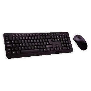 Builder Wired Keyboard and Mouse Kit - Black