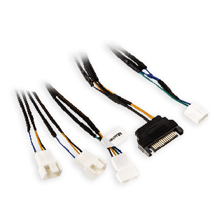 Akasa 30CM FLEXA FP3S PWM Fan Splitter Cable 3 Fans from 1 PWM Port, SATA