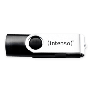 Intenso 8GB USB 2.0 Memory Pen Drive - Black & Silver