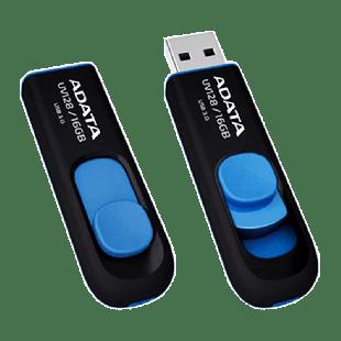 ADATA 16GB USB 3.0 Memory Pen Retractable Capless - Black & Blue