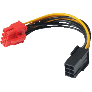 Akasa PCIe 6-Pin to PCIe 2.0 8-Pin  Adapter Cable, 10CM