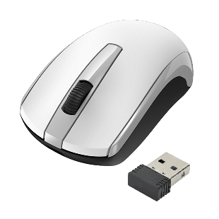 Approx Wireless Optical Mouse, 1200 DPI, Nano USB - White & Grey