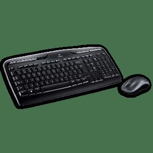 Logitech MK330 Wireless Keyboard and Mouse Kit - Black