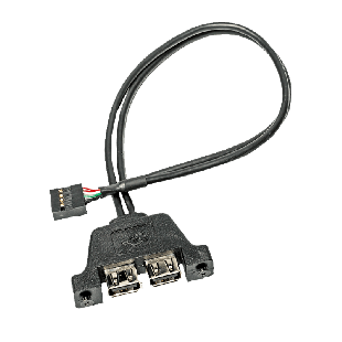Asrock USB 2.0 Cable for the DeskMini Mini-STX Chassis, 2 X USB 2.0