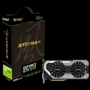 Palit GTX1070 Super JetStream, 8GB DDR5, PCIe3, DVI, HDMI, 3 DP, RGB Lighting, 0dB