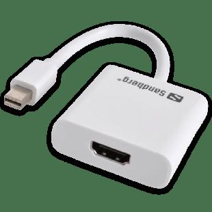 Sandberg Mini DisplayPort Male to HDMI Female Converter Cable - White