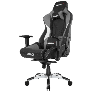 AKRacing Masters Series Pro Gaming Chair - Black & Grey