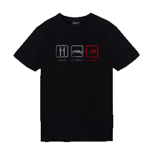 Asus ROG Lifestyle T-Shirt, Extra Large - Black