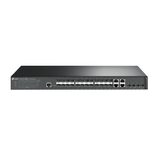 TP-Link (T2600G-28SQ) JetStream 28-Port Gigabit L2 Managed Switch with 10 SFP Slots
