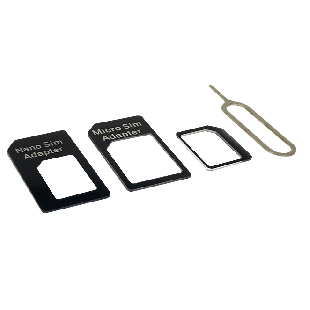 Sandberg SIM Card Adapter Kit, 4-in-1 - Black