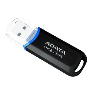 ADATA 8GB USB 2.0 Memory Pen Compact - Black & Blue