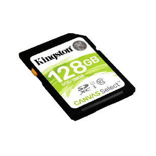 Kingston 128GB Canvas Select SDXC Card - Class 10