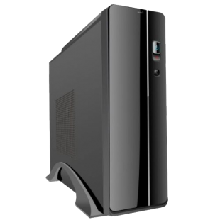 Spire Micro ATX Slimline Desktop Case, 300W, 8cm Fan, USB 2.0, Black