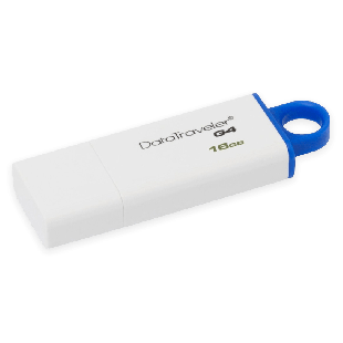 Kingston 16GB USB 3.0 Memory Pen DataTraveler G4 - White & Blue