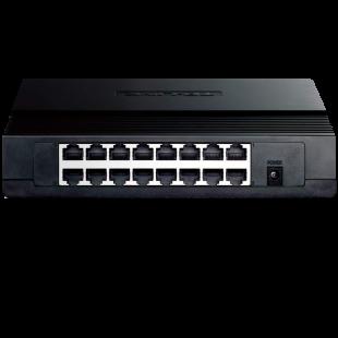 TP-LINK (TL-SF1016D) 16-Port 10/100Mbps Unmanaged Desktop Switch, Plastic Case