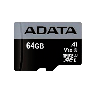 ADATA 64GB Premier Micro SDXC Card, UHS-I Class 10 with A1 App Performance
