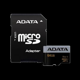 ADATA 64GB Premier Pro Micro SDXC/SDHC Card UHS-I U3 - Class 10