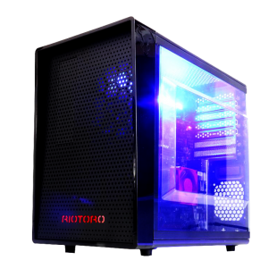 Riotoro CR1080 Mini Gaming Case with Window, ATX, No PSU, 12cm Fan, Full-size ATX MB, GPU and PSU support