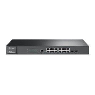 TP-Link (T2600G-18TS ) 16-Port Jetstream Gigabit L2 Managed Switch with 2 SFP Slots
