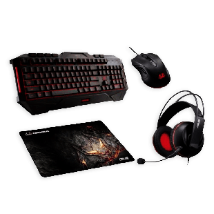 Asus Cerberus Gaming Bundle -  Keyboard,Headset, Mouse & Mouse Pad Included, Soft Bundle