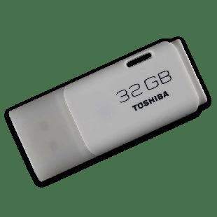 Toshiba 32GB USB 2.0 Memory Pen TransMemory Hayabusa - White