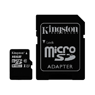Kingston 16GB Canvas Select Micro SD Card with SD Adapter - Class 10