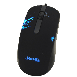 Jedel (M67) Wired Optical Gaming Mouse, 1000 DPI, USB, DPI Switch, 7 LED - Black