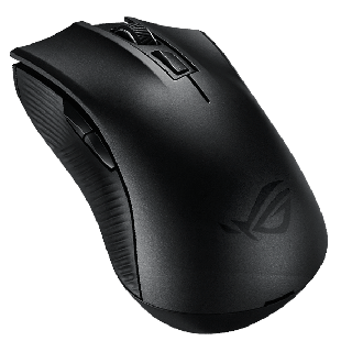 Asus ROG STRIX CARRY Wireless/Bluetooth Pocket-sized Gaming Mouse, 50 - 7200 DPI, Exclusive Switch Socket - Black