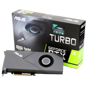 Asus RTX2070 TURBO, 8GB DDR6, HDMI, 2 DP, USB-C, 1650MHz Clock