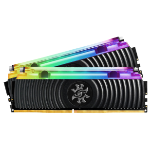 ADATA XPG Spectrix D80 RGB LED 16GB Kit (2 x 8GB), Hybrid Liquid/Air Cooling, DDR4, 3000MHz (PC4-24000), CL16, XMP 2.0, DIMM Memory, Black