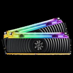 ADATA XPG Spectrix D80 RGB LED 16GB Kit (2 x 8GB), Hybrid Liquid/Air Cooling, DDR4, 3200MHz (PC4-25600), CL16, XMP 2.0, DIMM Memory, Black