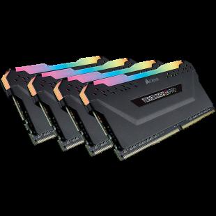 Corsair Vengeance RGB Pro 32GB Memory Kit (4 x 8GB), DDR4, 3200MHz (PC4-25600), CL16, XMP 2.0, Black